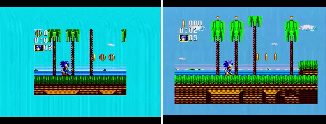 Game Gear On Sms Genesis Retrorgb