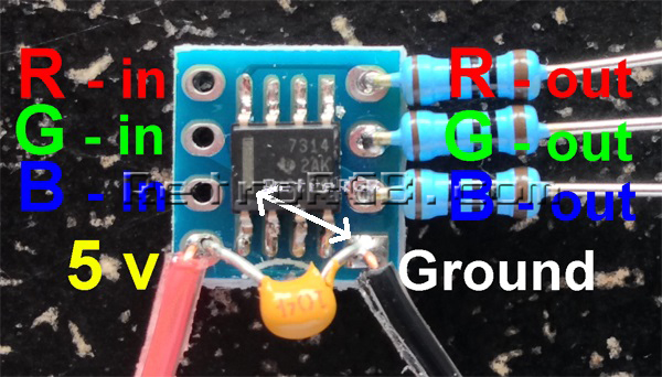 N64 RGB Mod - DIY RGB Amp | RetroRGB Nintendo Wiring Diagram on