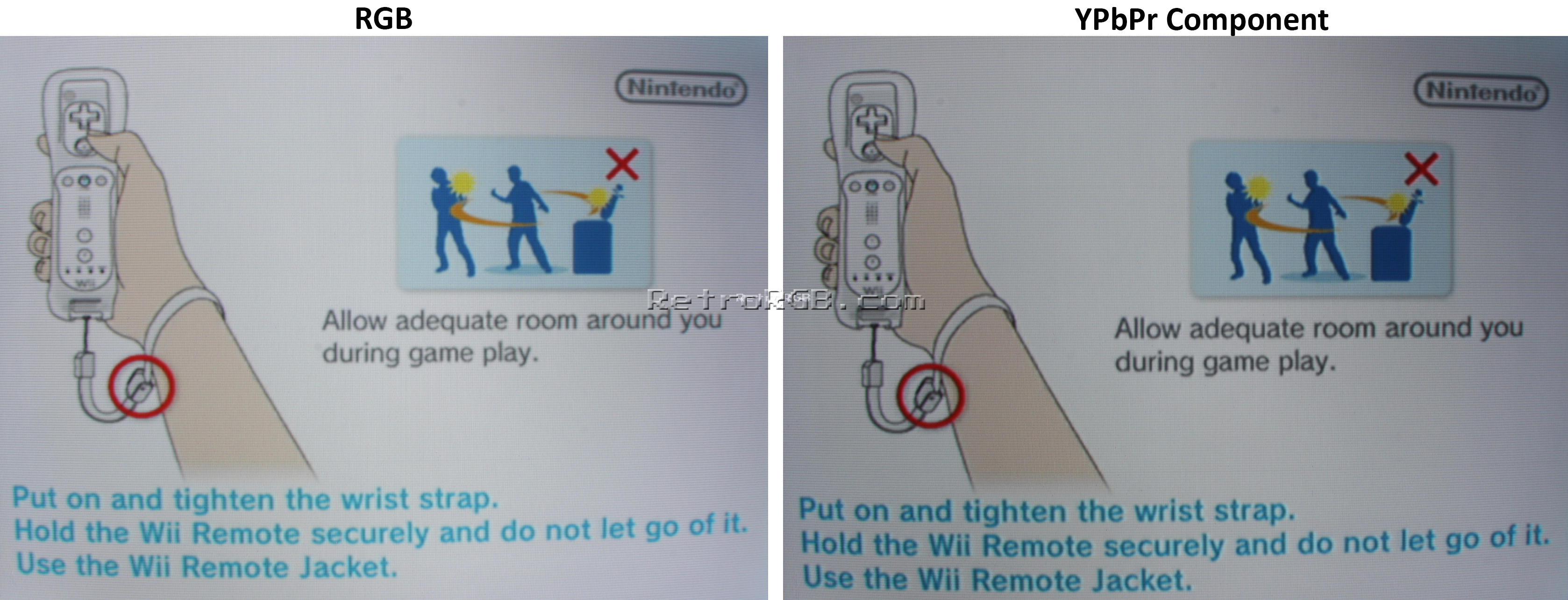 RetroRGB - Wii RGB vs Wii Component