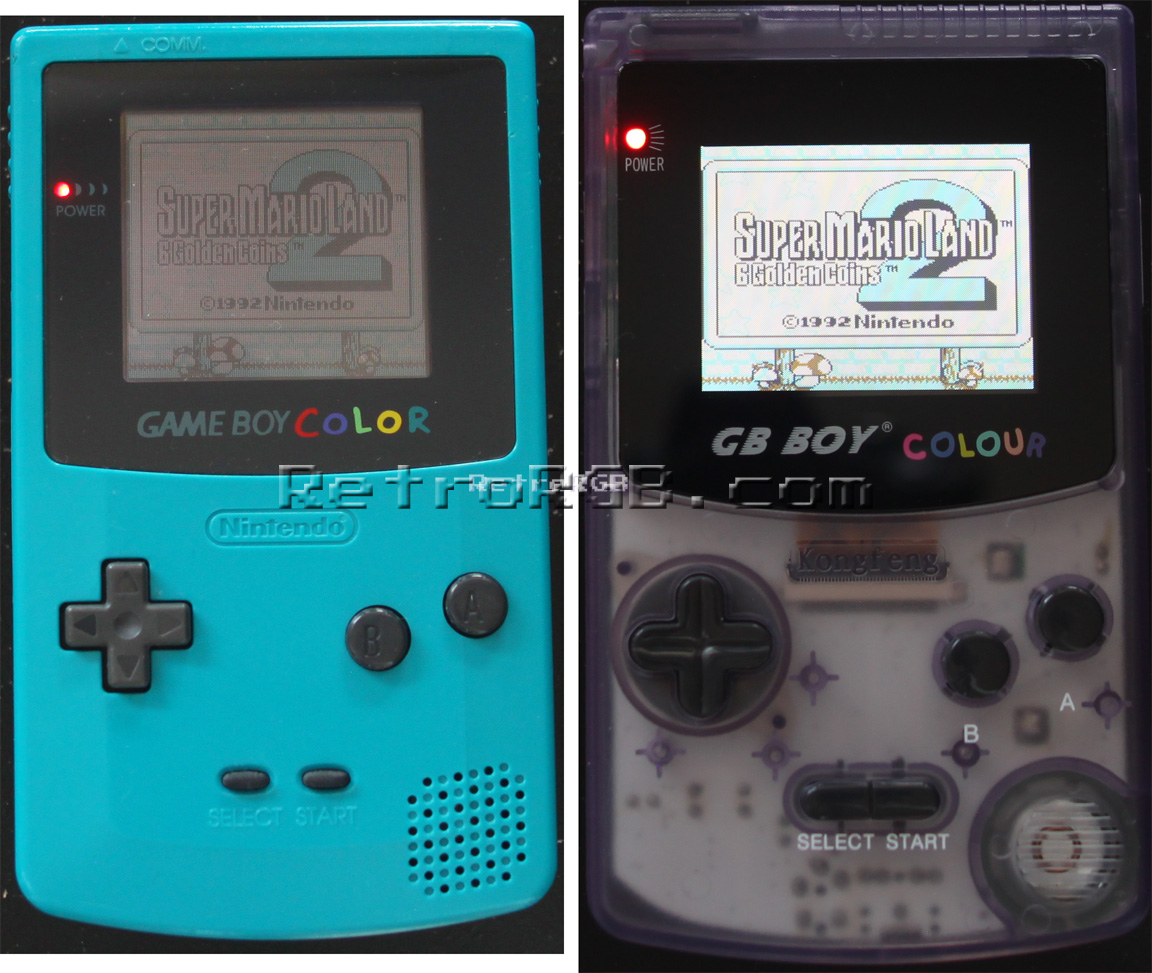 Gameboy color screen mod - Click The Picture On The Right For A Full Size Pic Comparing It To The Gbc