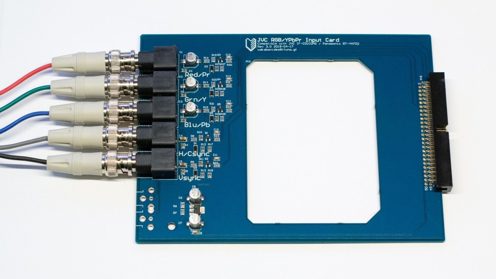 Aftermarket RGB Input card for someJVC, Panasonic and Ikegami RGB monitors