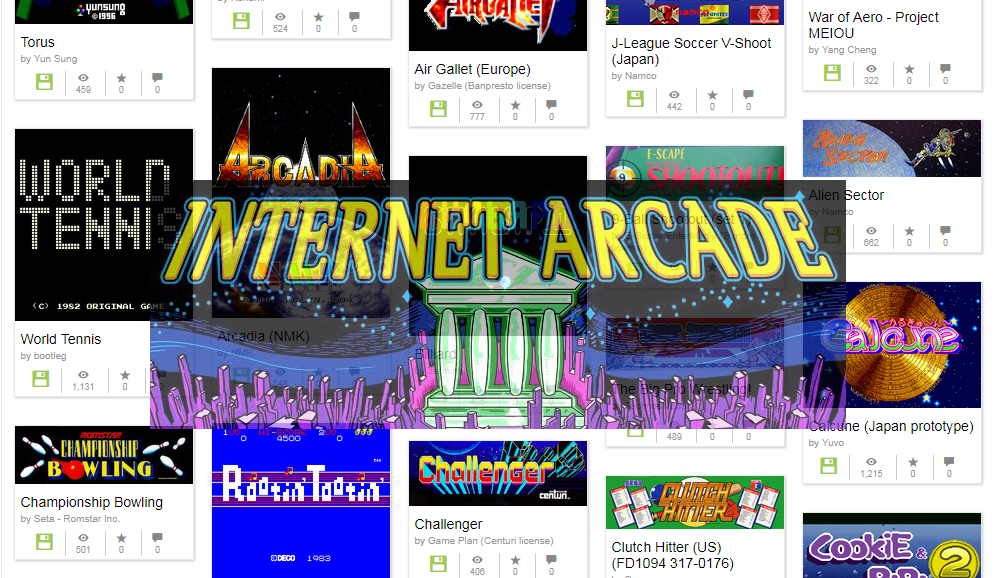 Over 1,100 Arcade Games Added to the Internet Arcade