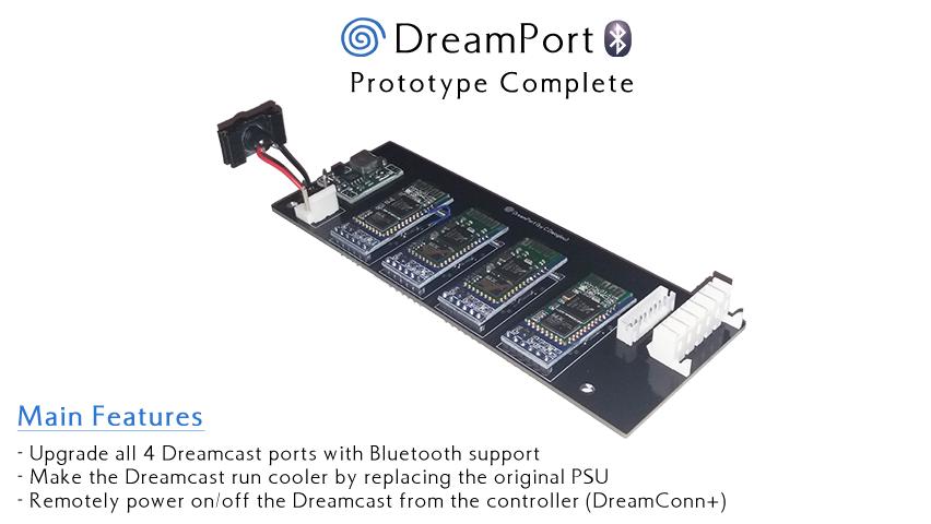 DreamPort: Sega Dreamcast Bluetooth & Power Supply Upgrade