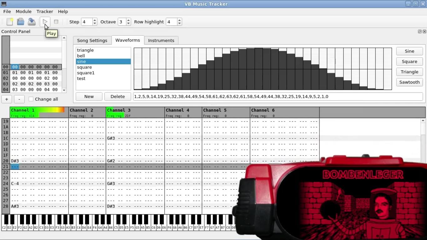 VB Music Tracker for Virtual Boy