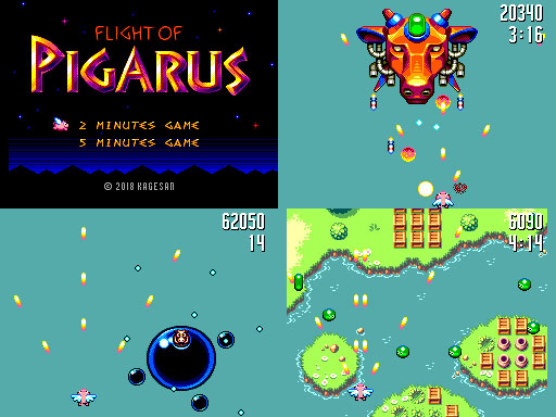 SMS Homebrew Shmup Flight of Pigarus Released