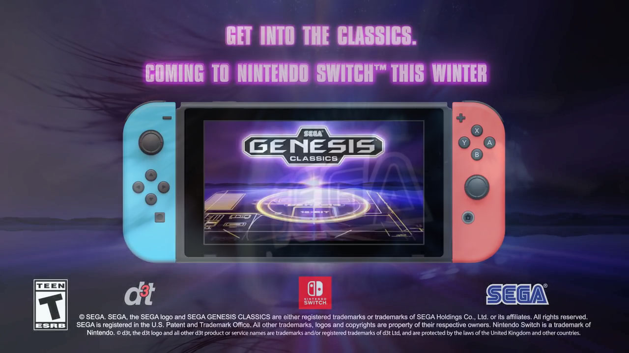 Sega Classics Coming to Switch