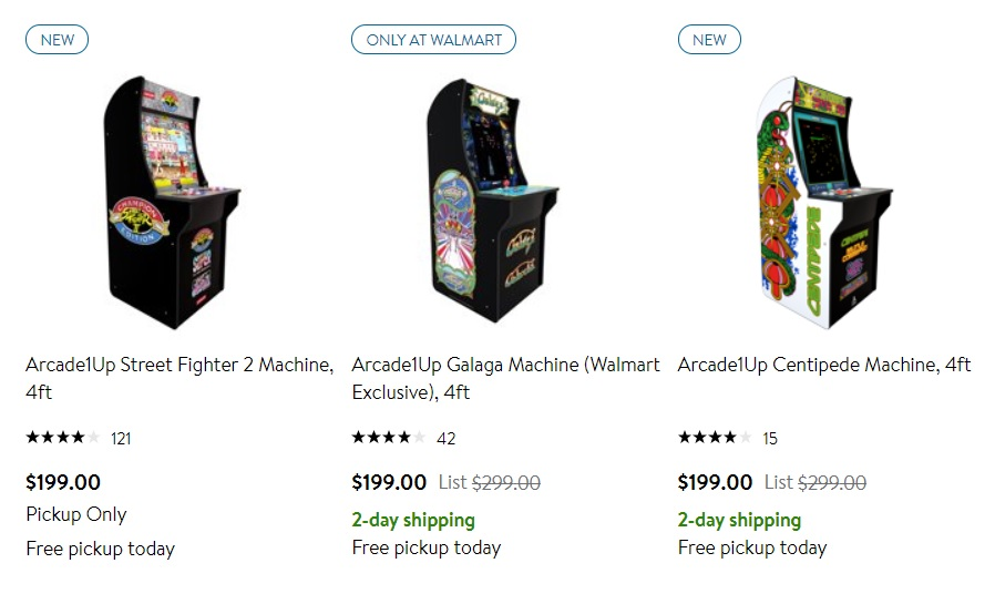 All Arcade 1Up Machines $199
