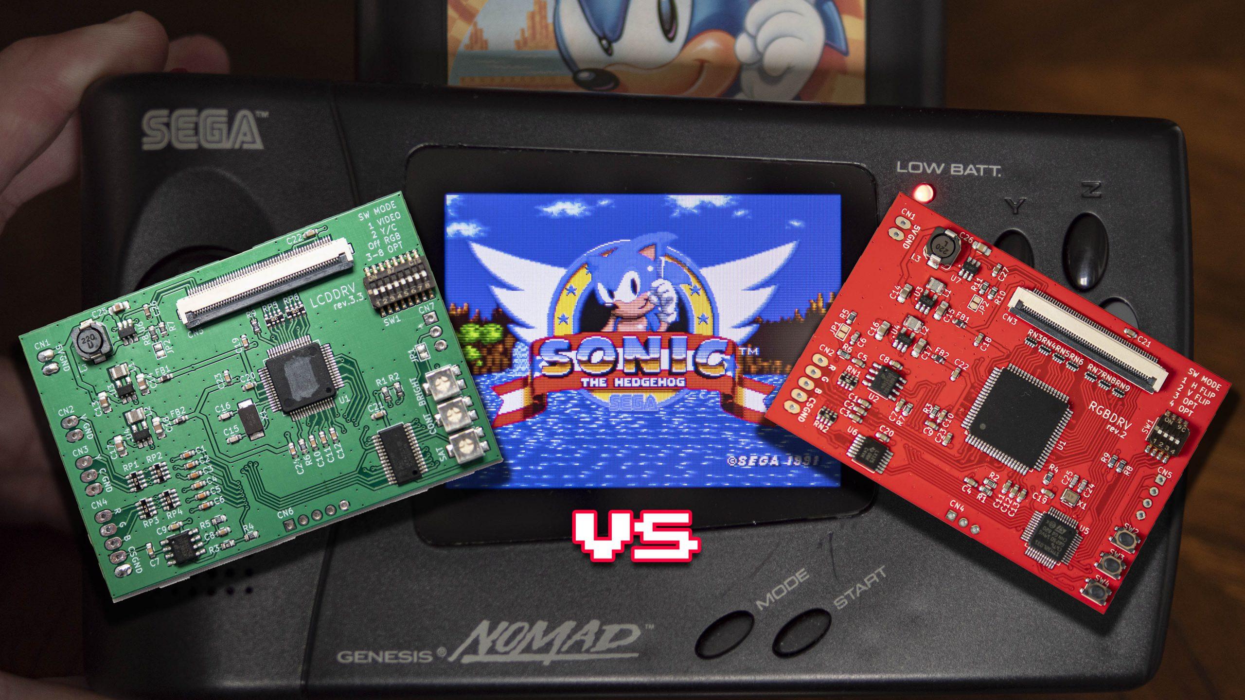 Sega Nomad LCD vs RGB DRV