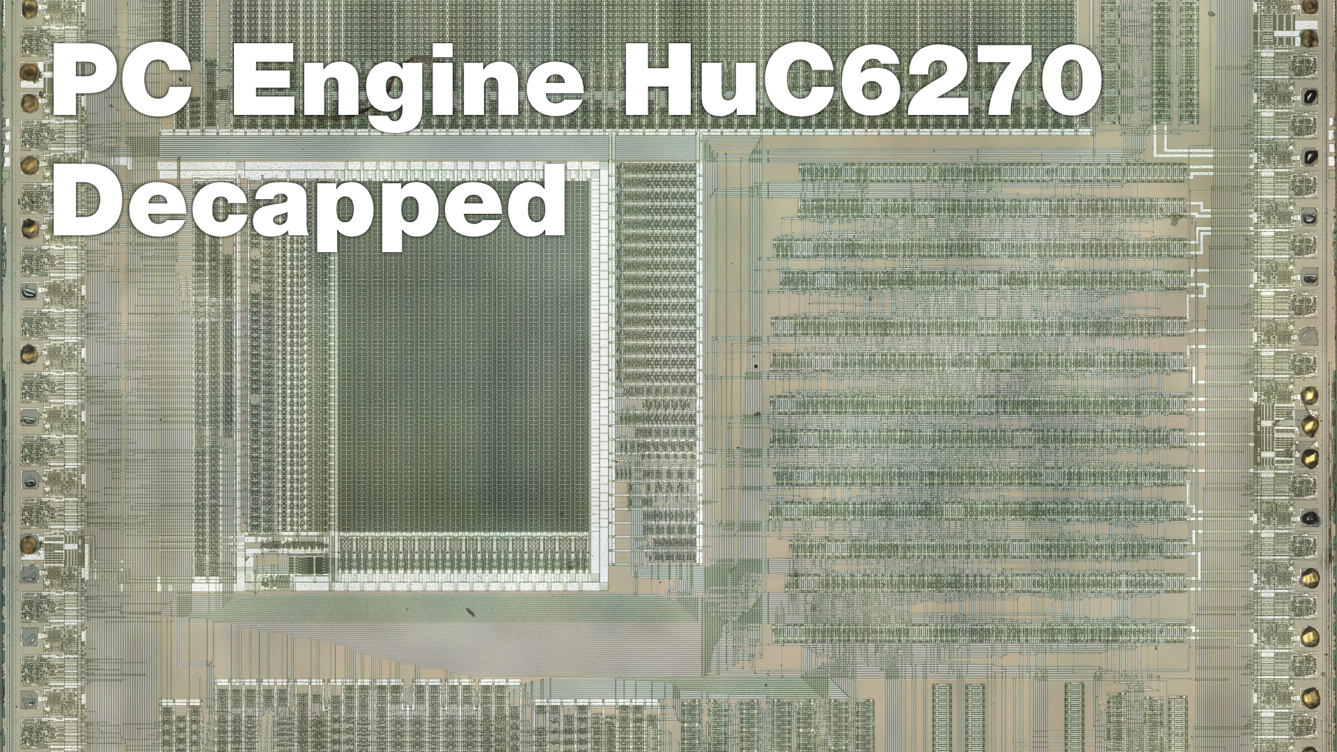 Furrtek Maps the PC Engine HuC6270 with John McMaster
