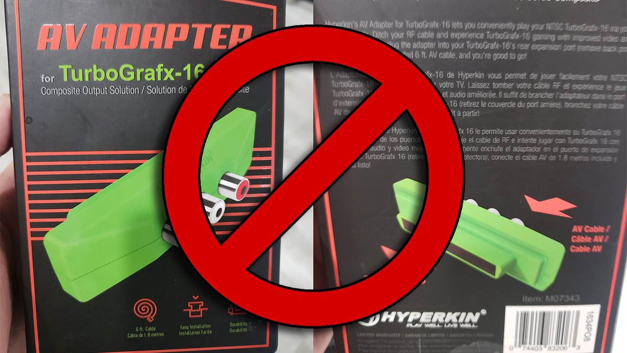 Hyperkin TG-16 Composite Video Adapter Analysed.  Spoiler: It's bad