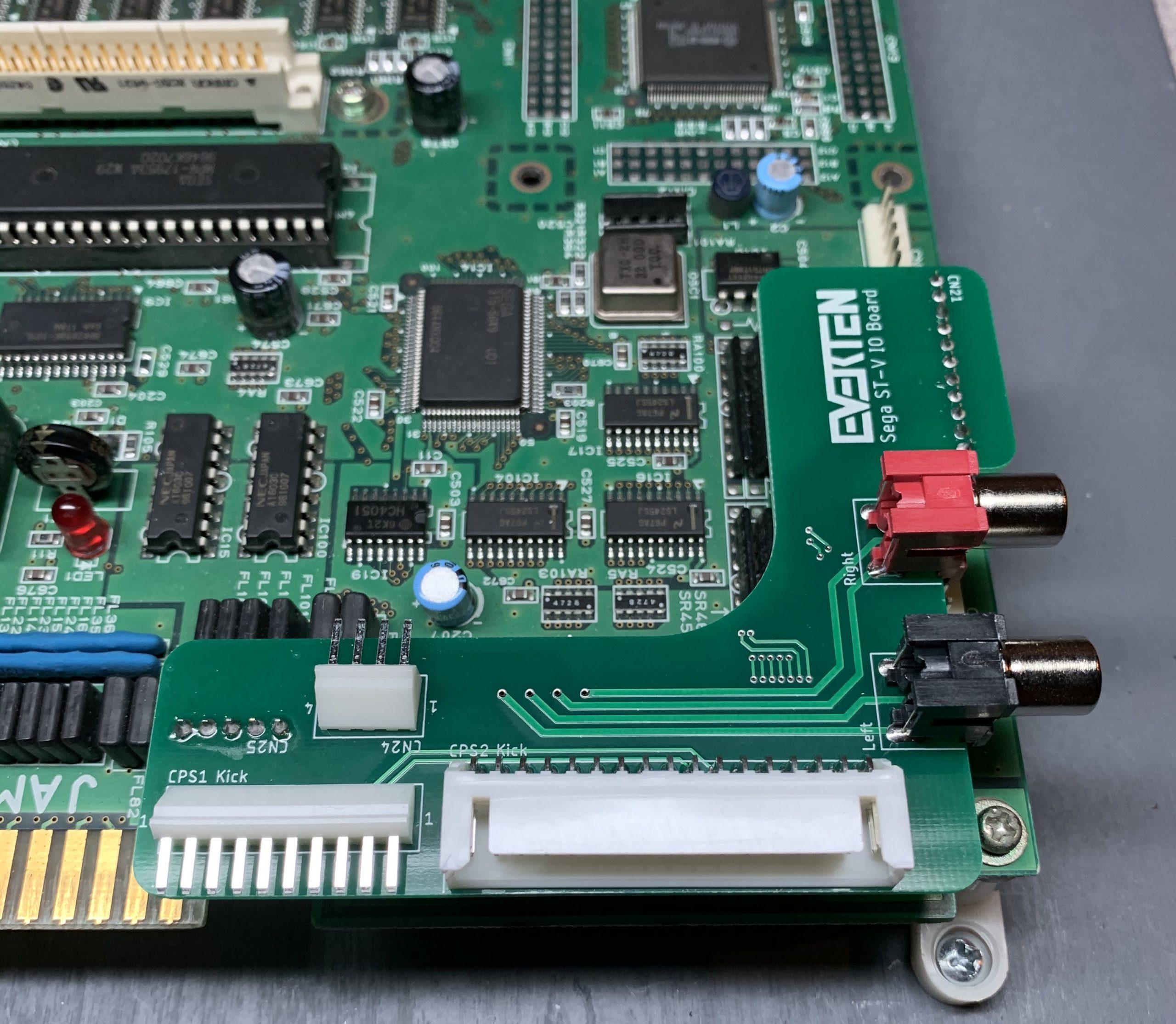 EVERTEN ST-V: Sega STV Titan Stereo + Kick Harness PCBs