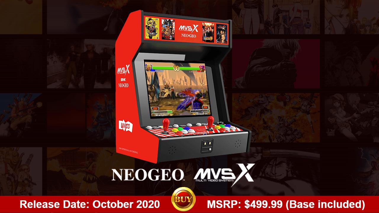 Neo Geo MVS-X Announced