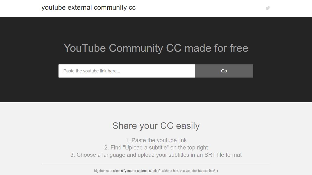 Community Hosted YouTube Subtitles