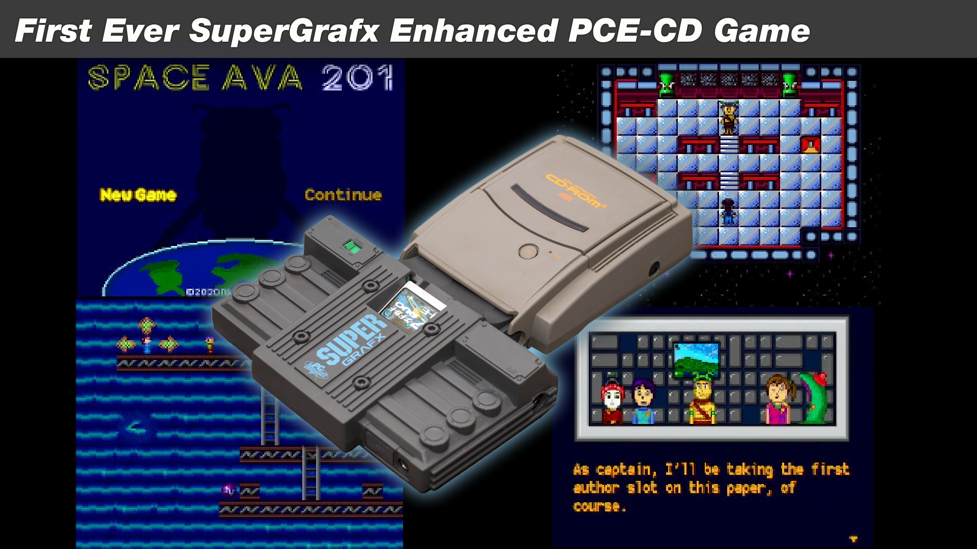 Space Ava 201: The First PC Engine CD Game With SuperGrafx Enhancements, and Arcade Card