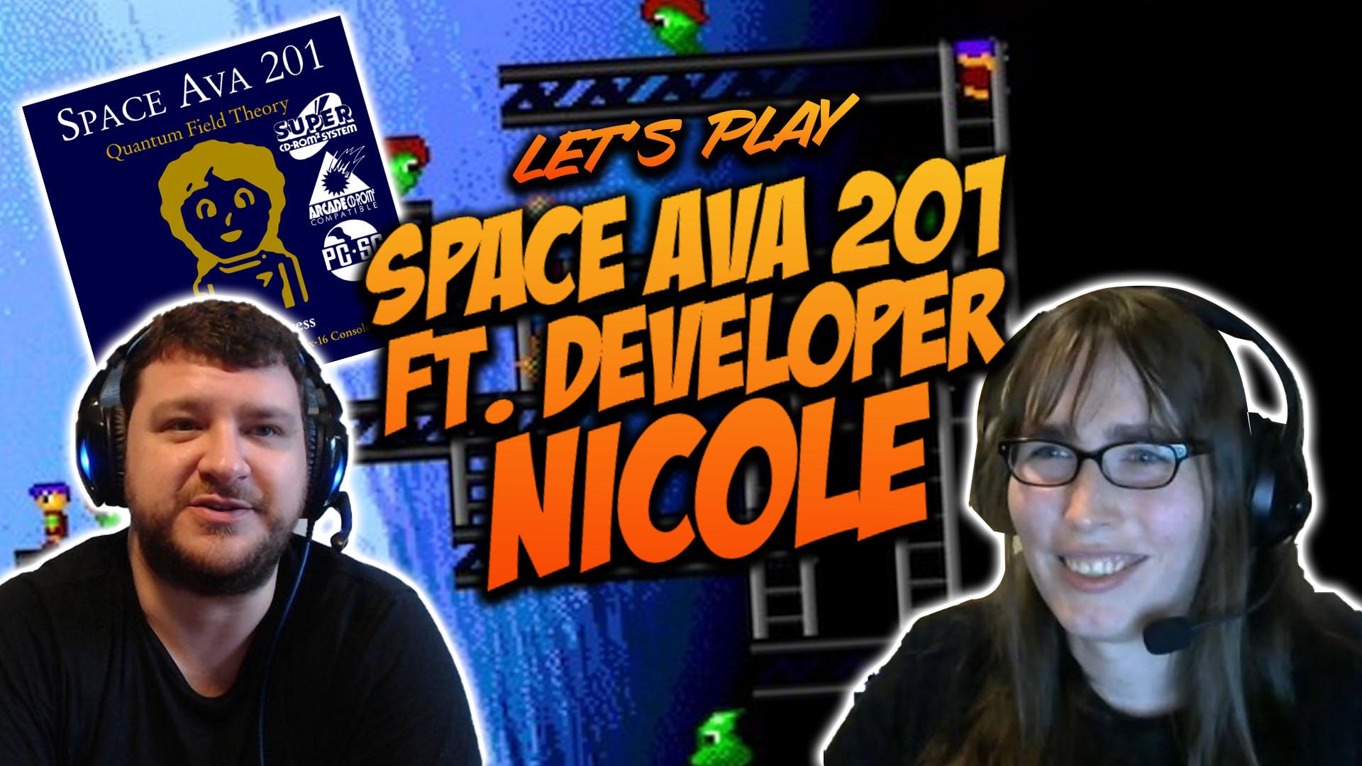 Space Ava 201 – Full Playthrough Featuring Creator