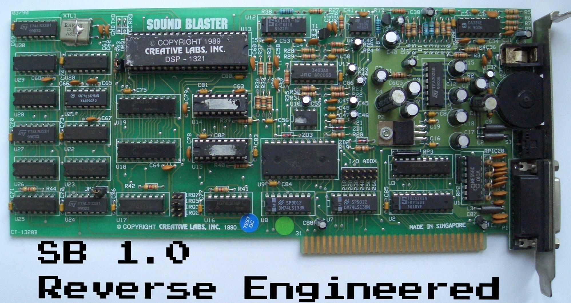 Sound Blaster 1.0 Firmware Reverse Engineered