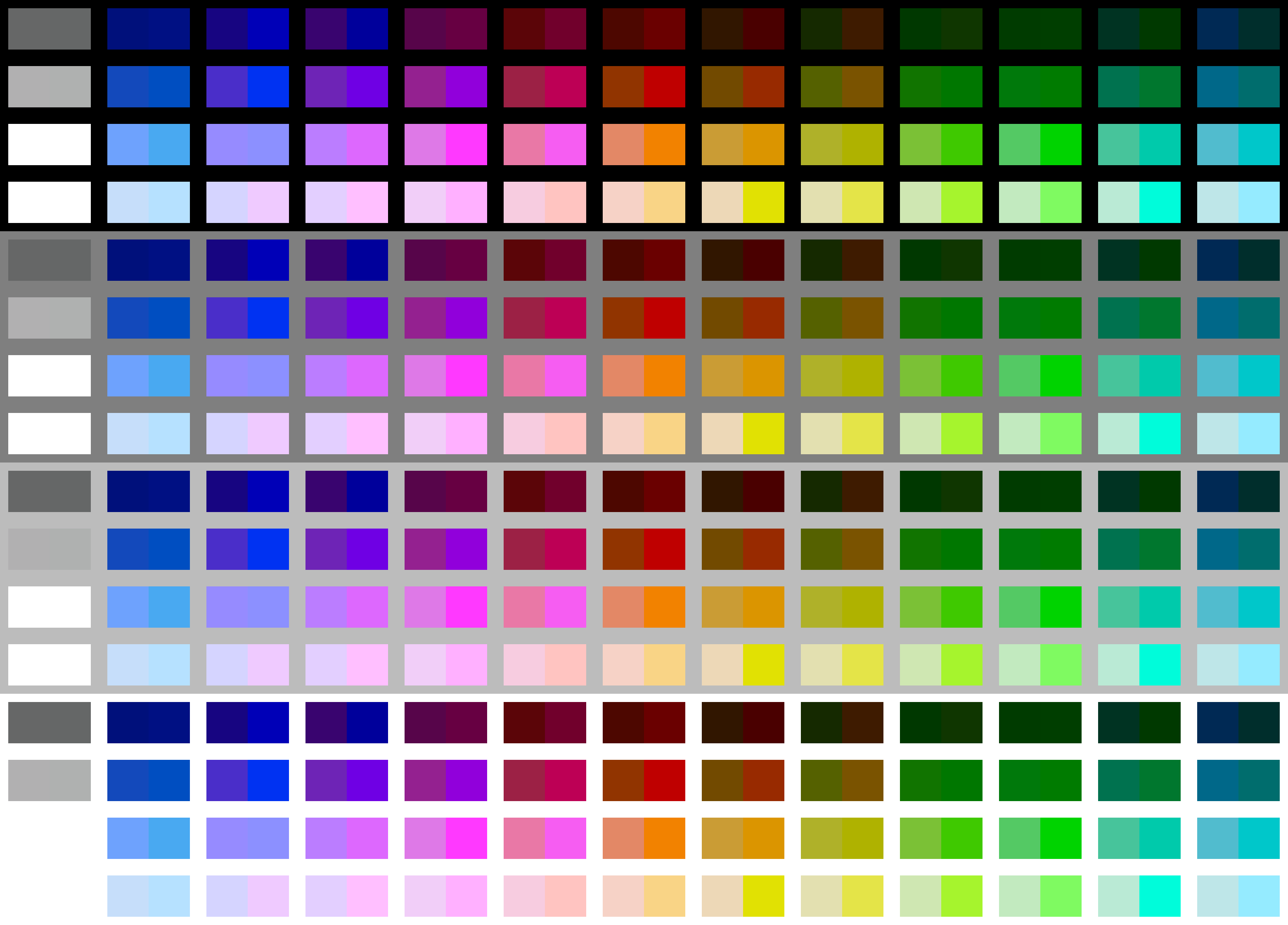 NES palette comparisons