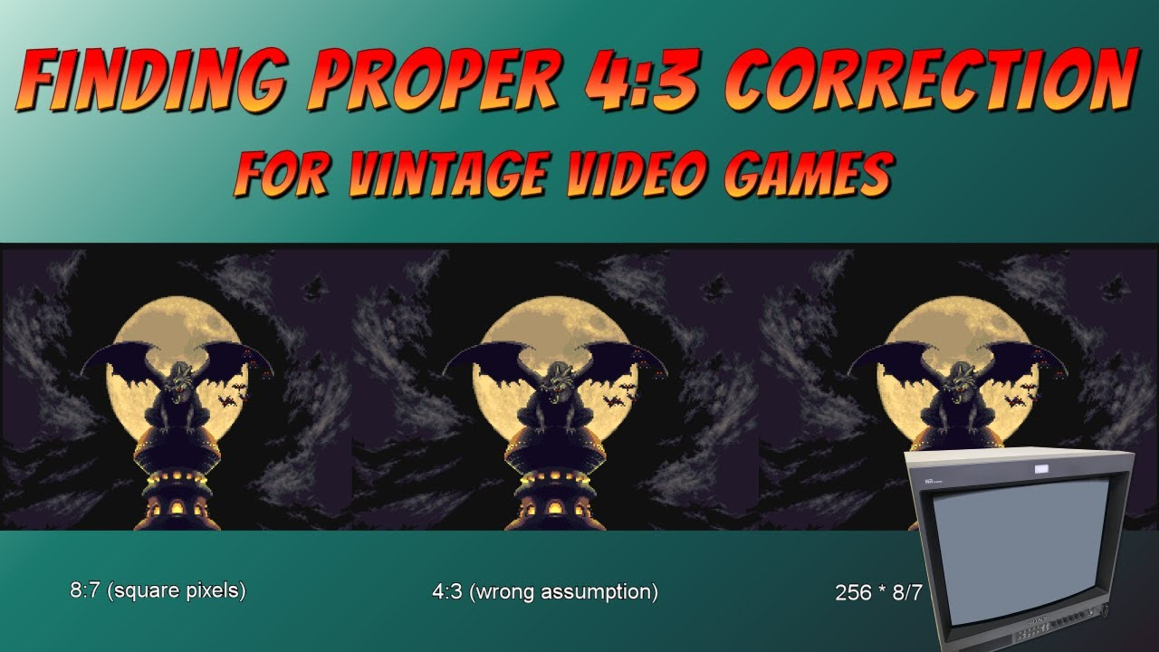 Finding Proper 4:3 Correction for Vintage Video Games