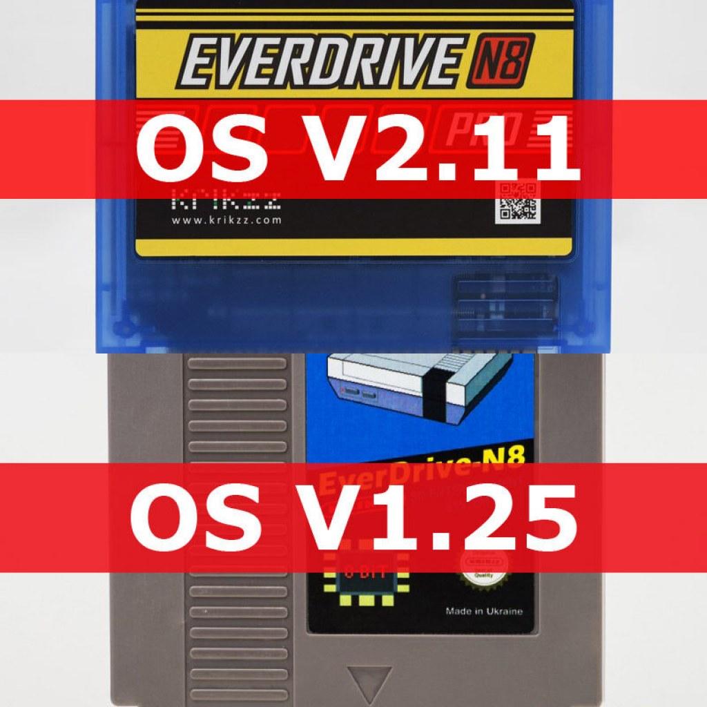 Everdrive N8 firmware 1.25 & Pro firmware 2.11