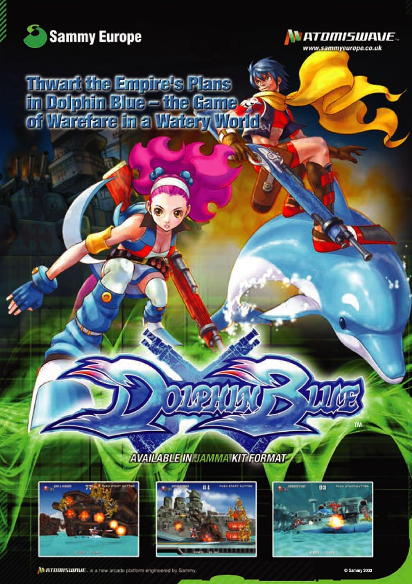 Atomiswave Dolphin Blue now fully playable on Dreamcast