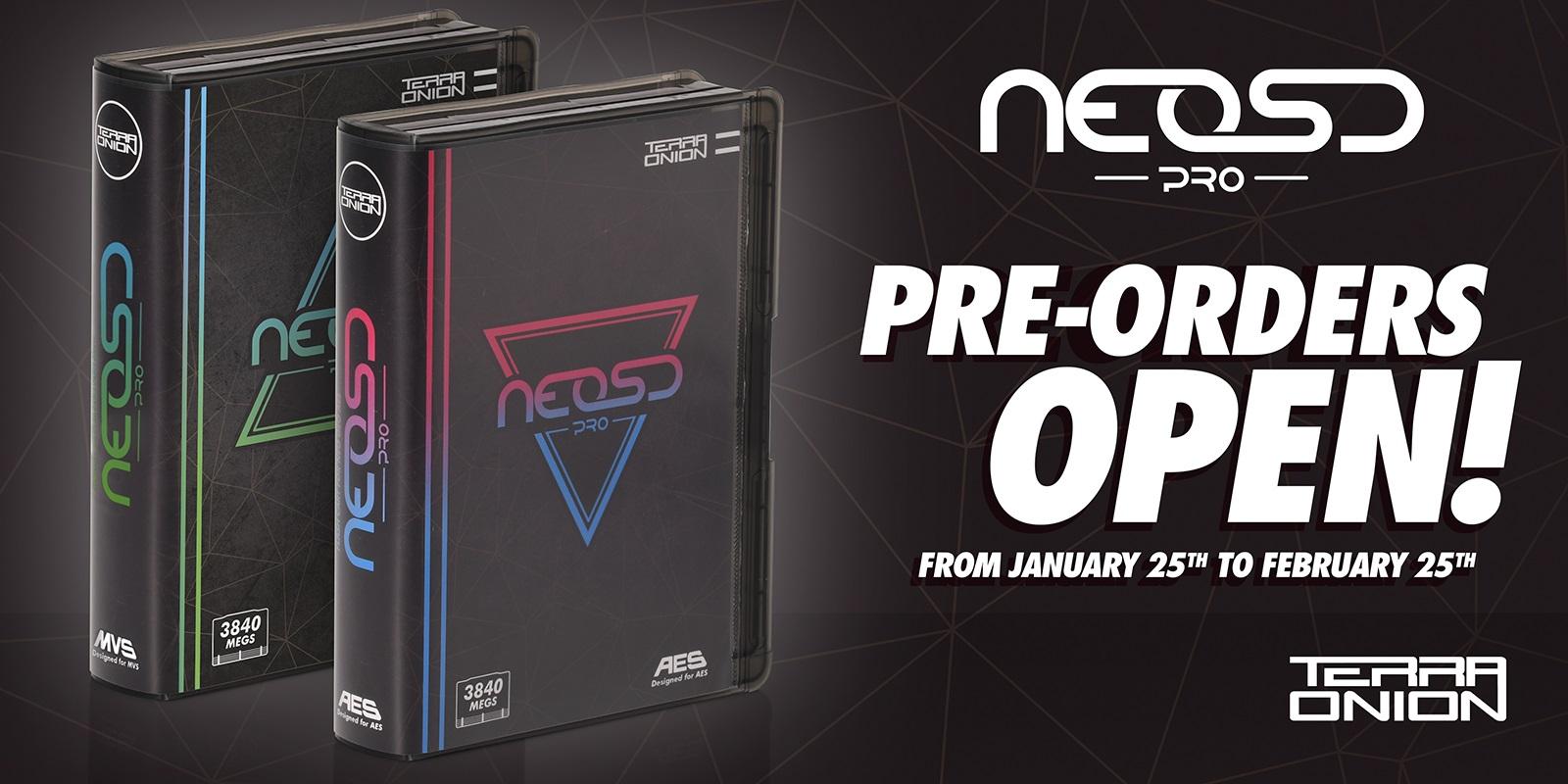 Neo SD Pro AES & MVS Pre-Orders Open