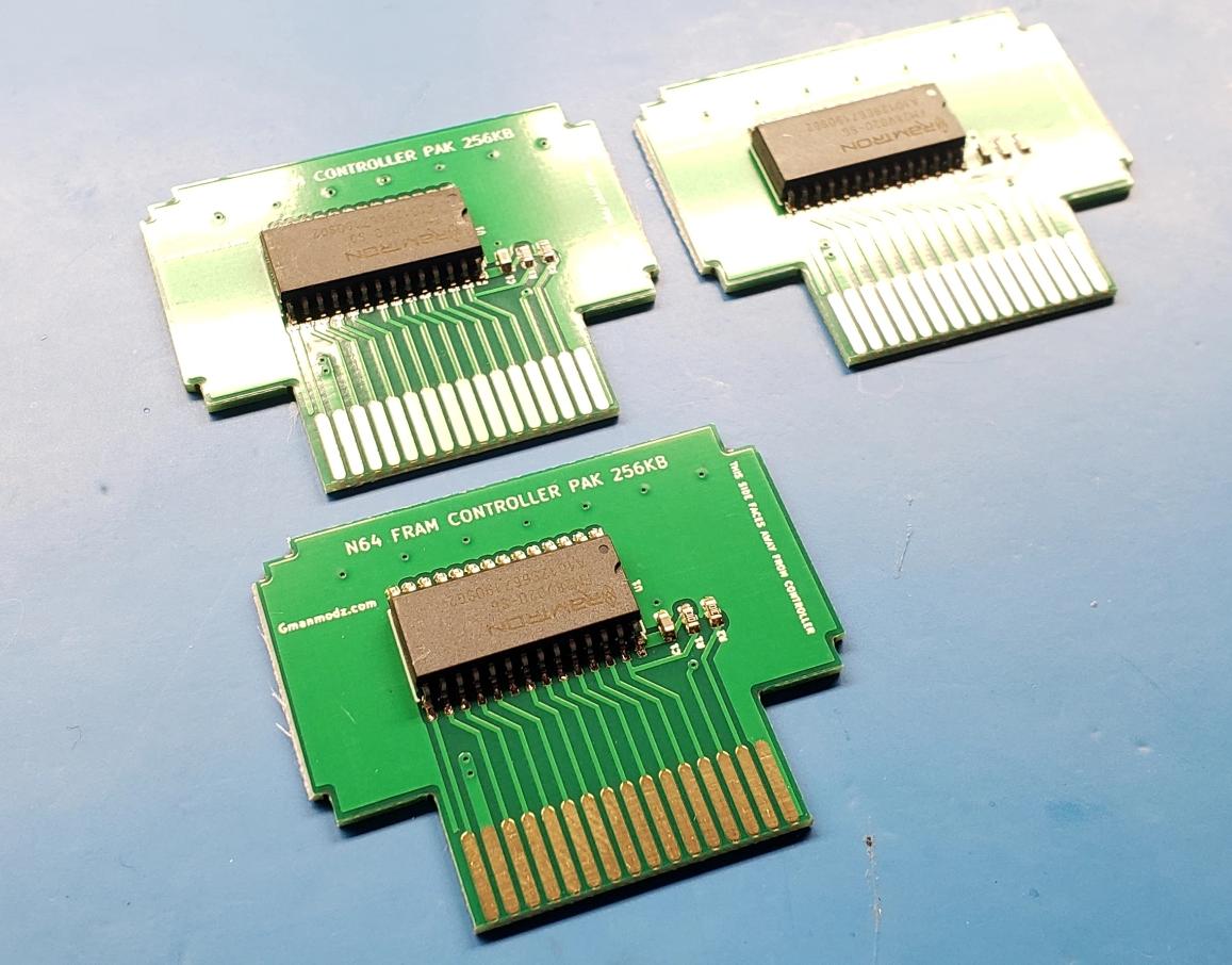 New Nintendo 64 Memory Paks – FRAM Based and Battery Free