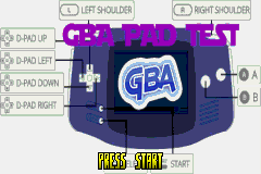 GBA D-Pad Test Software