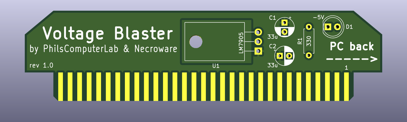 Voltage Blaster -5V ISA Slot Adapter