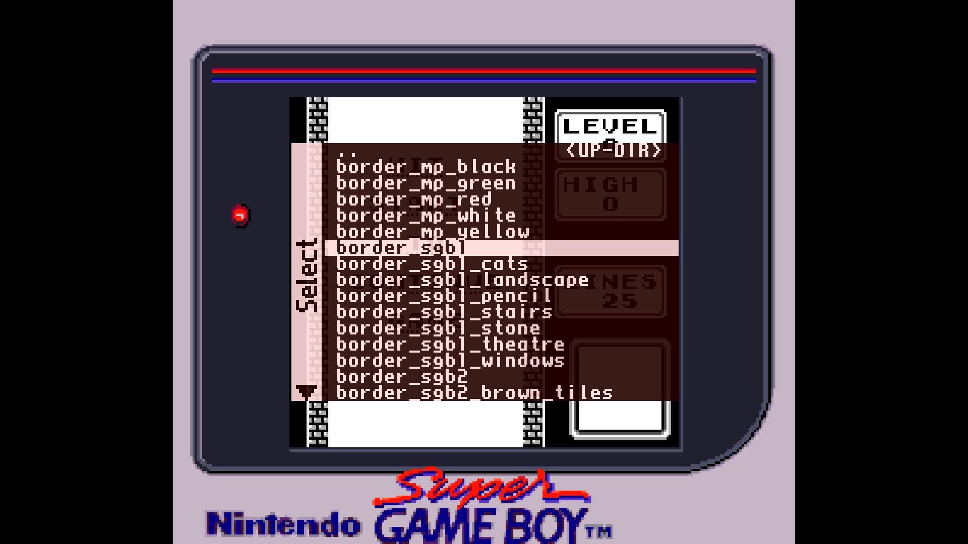 MiSTer Super Game Boy Borders
