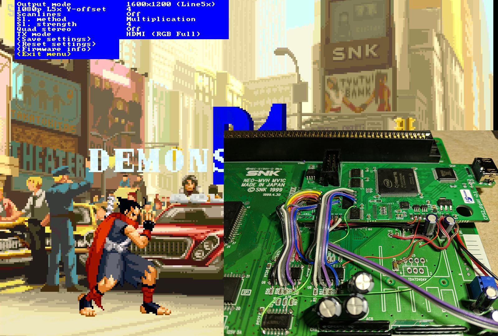 CPSHDMI Ported to Neo Geo MV1C