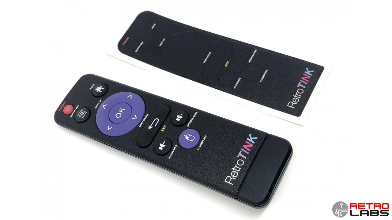 Retro Labs RetroTINK 5x Remote Control Overlay