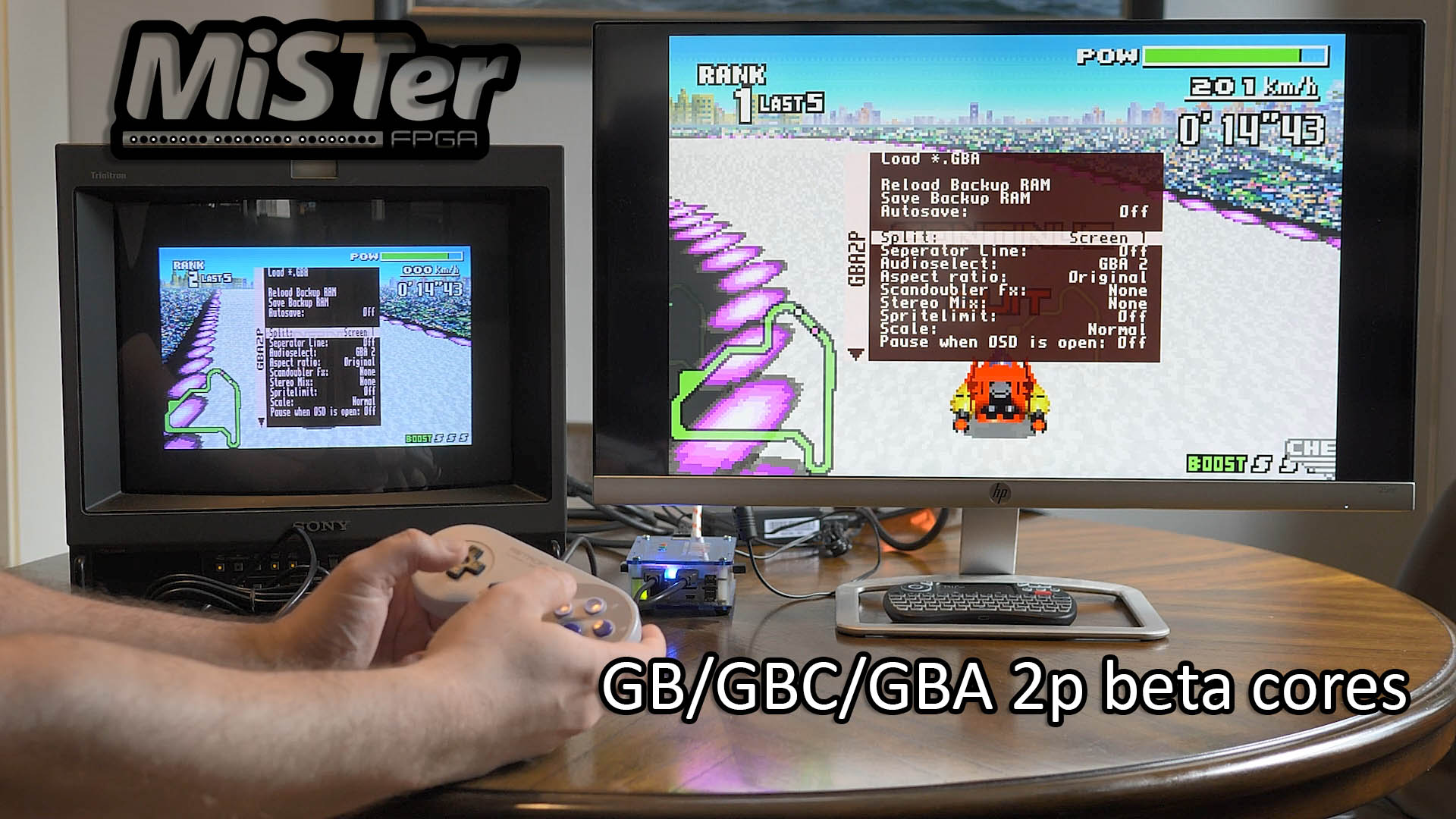 2-Player GB/GBC/GBA Custom Cores for MiSTer