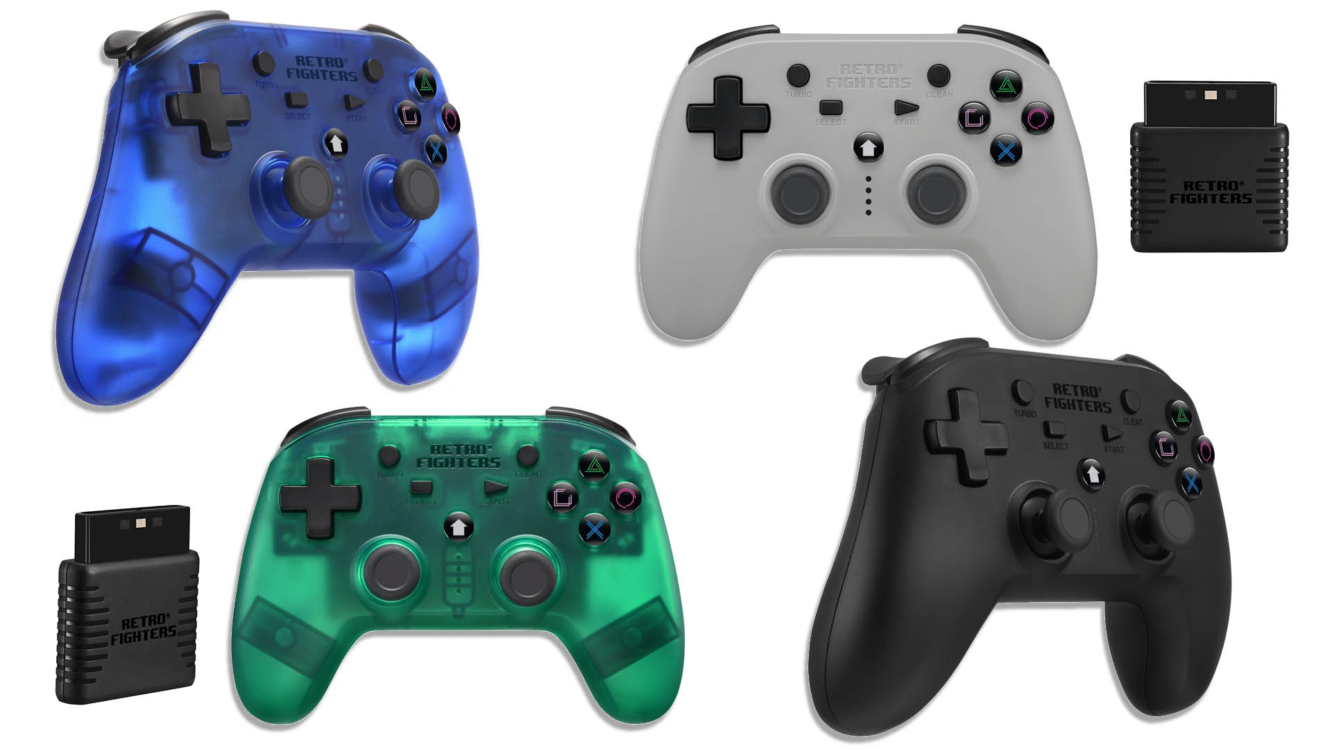 Retro Fighters Wireless PlayStation 1/2 Controller