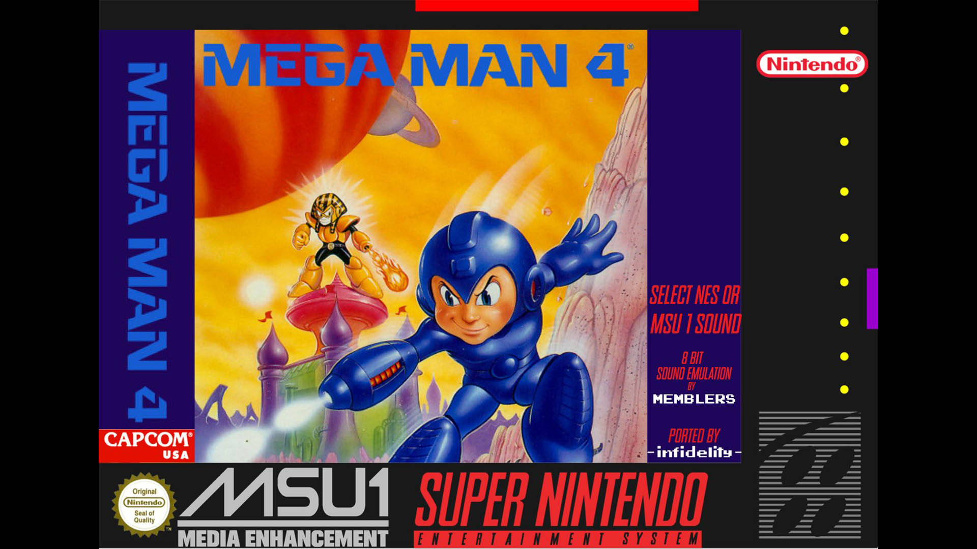 Mega Man 4 SNES Port