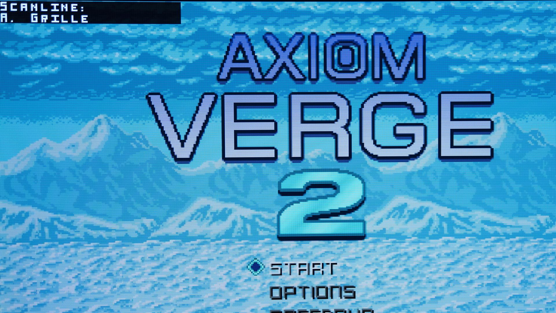 Axiom Verge 2 + RT5x Scanlines