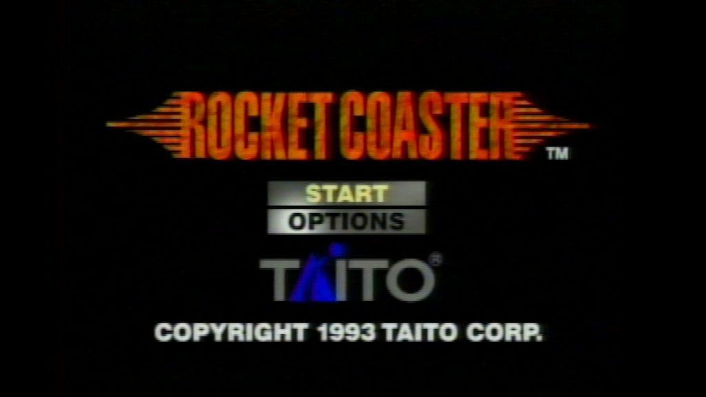 Rocket Coaster title screen, with sharp interpolation