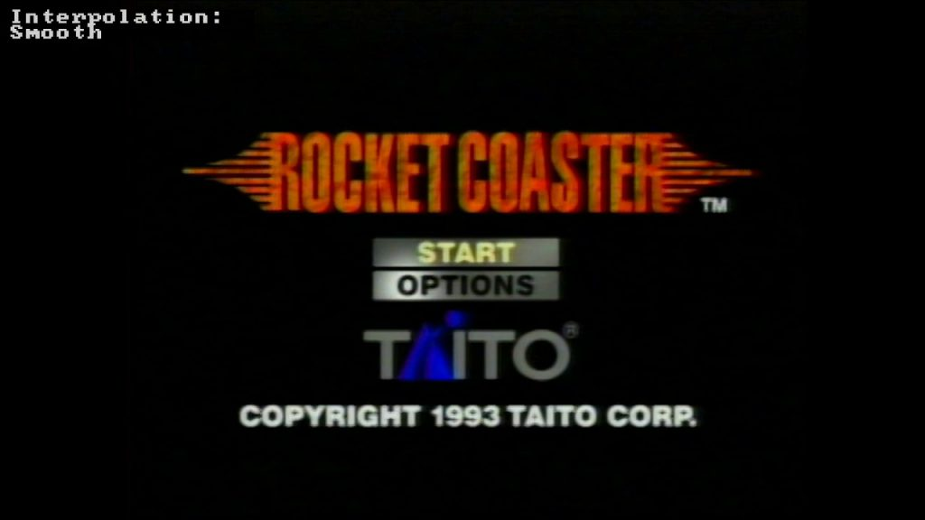 Rocket Coaster title screen, with smooth interpolation