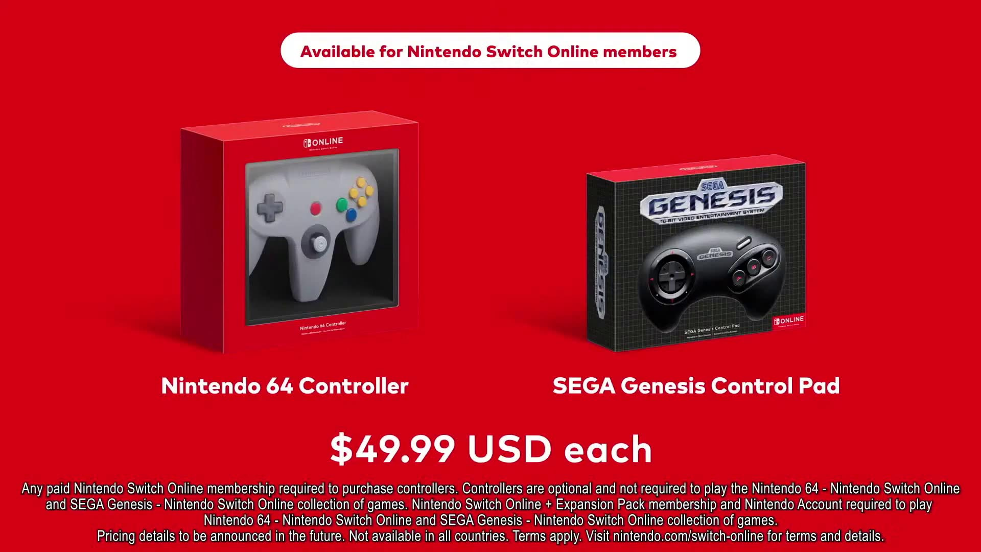 Nintendo Announces N64 & Genesis Bluetooth Switch Controllers